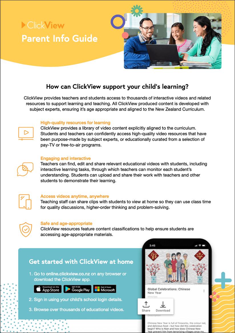 ClickView Parent Info Guide