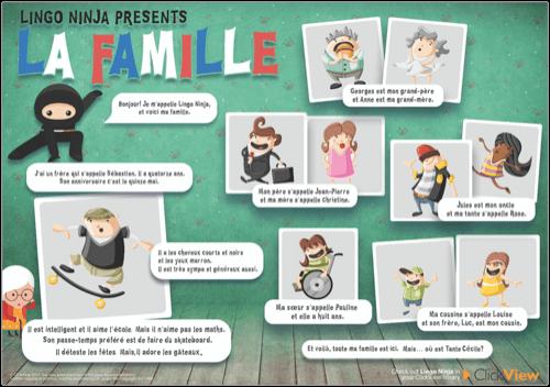 Lingo Ninja Presents La Famille Poster